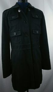 MARC JACOBS Military Trench Coat Cotton Black M